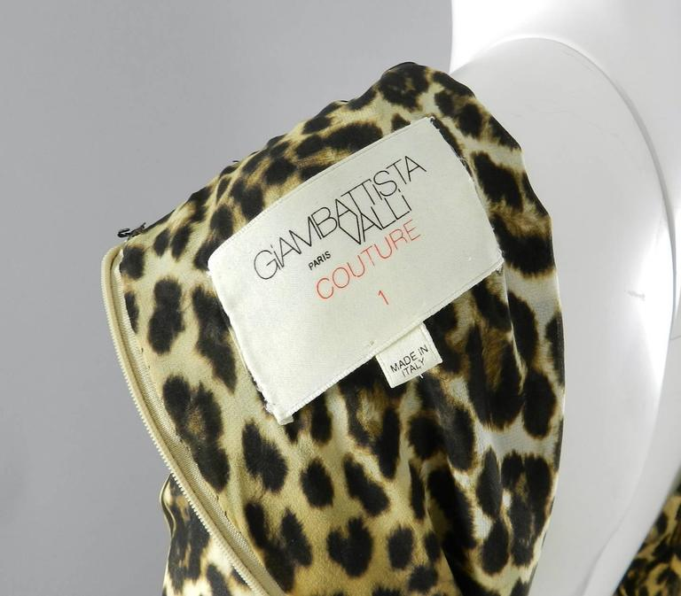 Giambattista Valli Haute Couture Fall 2011 Leopard and Feather Evening Gown 6
