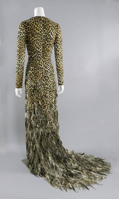 Giambattista Valli Haute Couture Fall 2011 Leopard and Feather Evening Gown 9