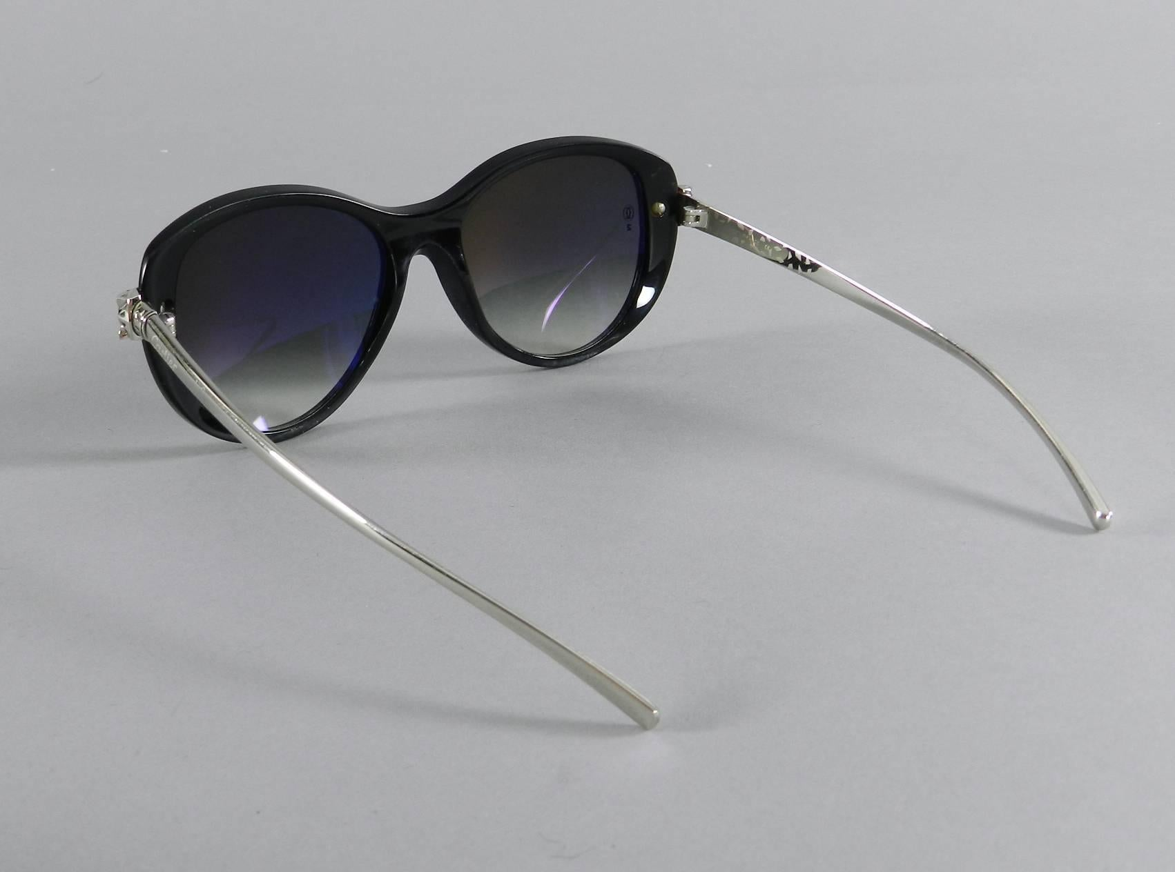 59e0c79a2a Cartier Panthere Wild Collection Black Sunglasses at 1stdibs