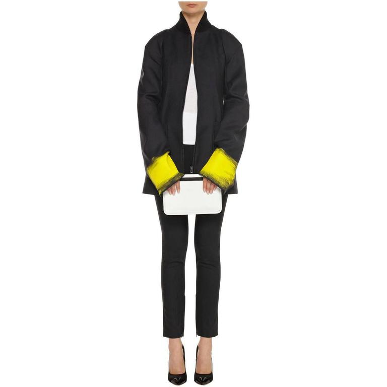 Maison Martin Margiela Fall 2013 Runway Black Jacket with Yellow Painted Cuffs 4