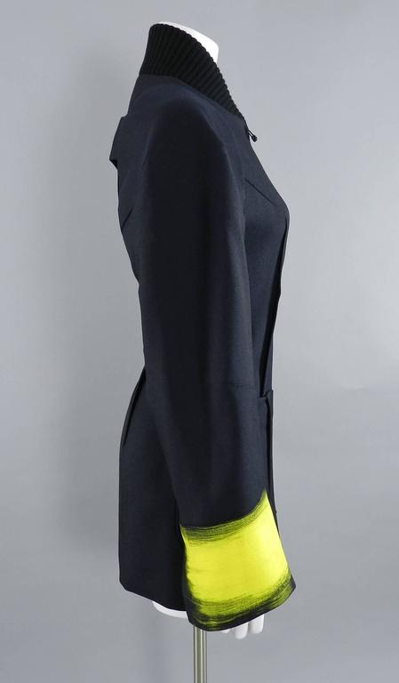 Maison Martin Margiela Fall 2013 Runway Black Jacket with Yellow Painted Cuffs 5