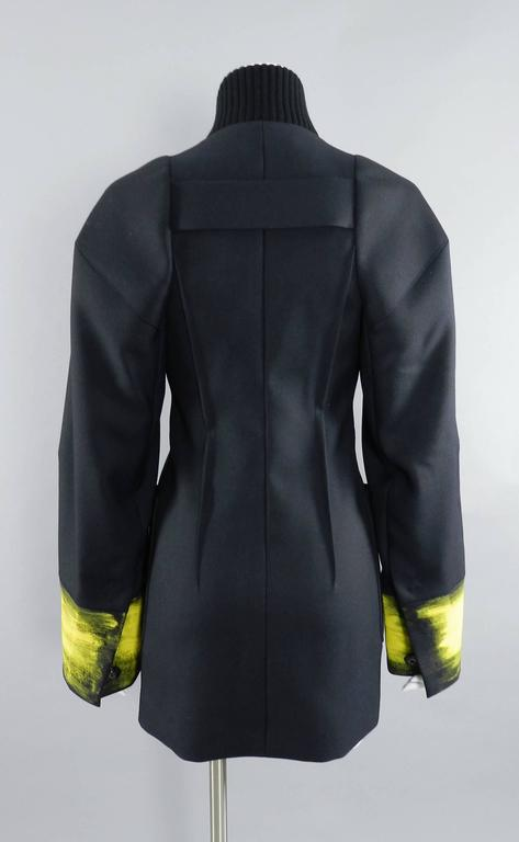 Maison Martin Margiela Fall 2013 Runway Black Jacket with Yellow Painted Cuffs 7
