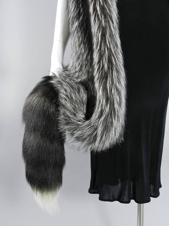 Lanvin fall 2010 Silver fox fur scarf / stole with 1 sleeve 5