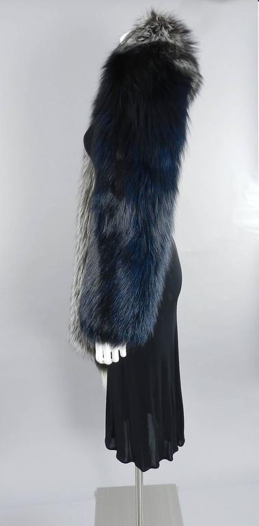 Lanvin fall 2010 Silver fox fur scarf / stole with 1 sleeve 6