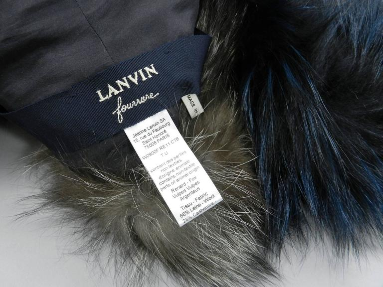 Lanvin fall 2010 Silver fox fur scarf / stole with 1 sleeve 8