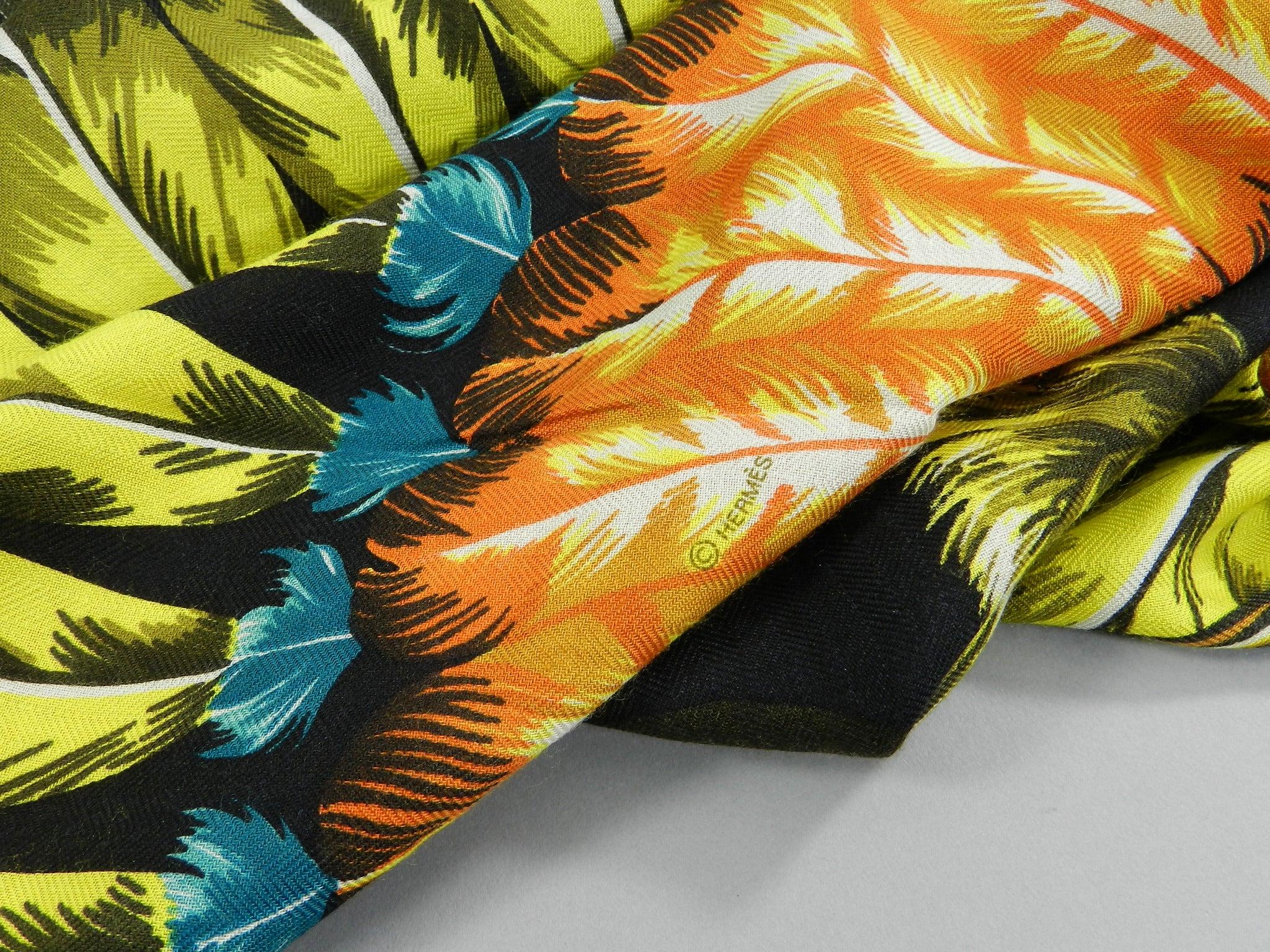 668525de0a10 Hermes Cashmere Silk Shawl 180 x 64 cm - Brazil at 1stdibs