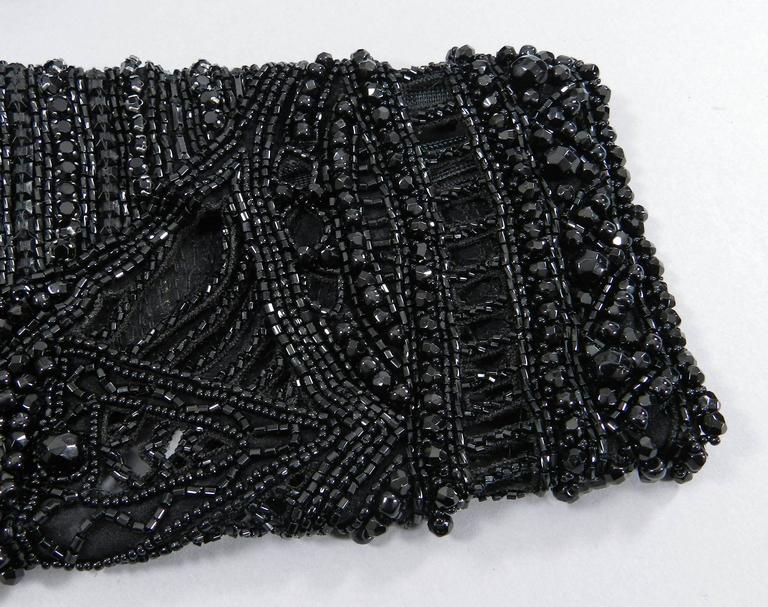 Emilio Pucci Fall 2013 Runway Heavily Beaded Black Evening Top / Shirt For Sale 2