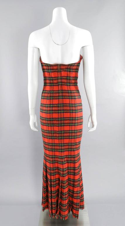 Isaac Mizrahi Fall 1989 Extreme Kilt Runway Dress - Red Plaid 6