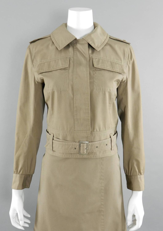 ysl vintage 1968 la saharienne safari jacket and skirt set