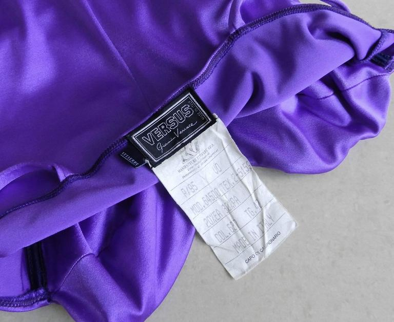 Versus by Gianni Versace Vintage Spring 1994 Electric purple Bodycon Dress 5