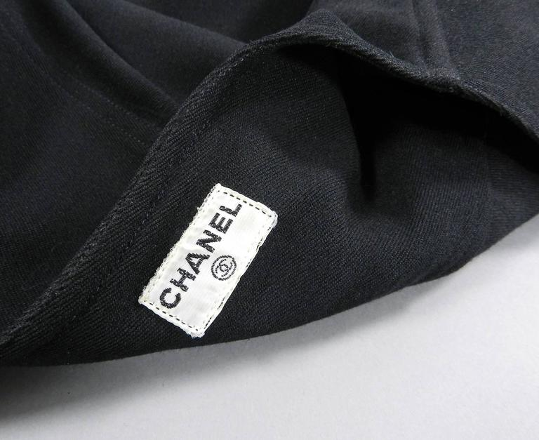 Chanel 1990's Black Rayon Jacket with Gold CC logo buttons For Sale 1
