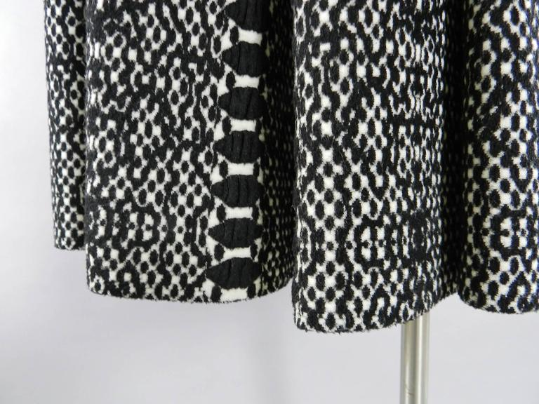 Alaia Black and White Knit Jersey Peplum Top and Flare Skirt Set 3