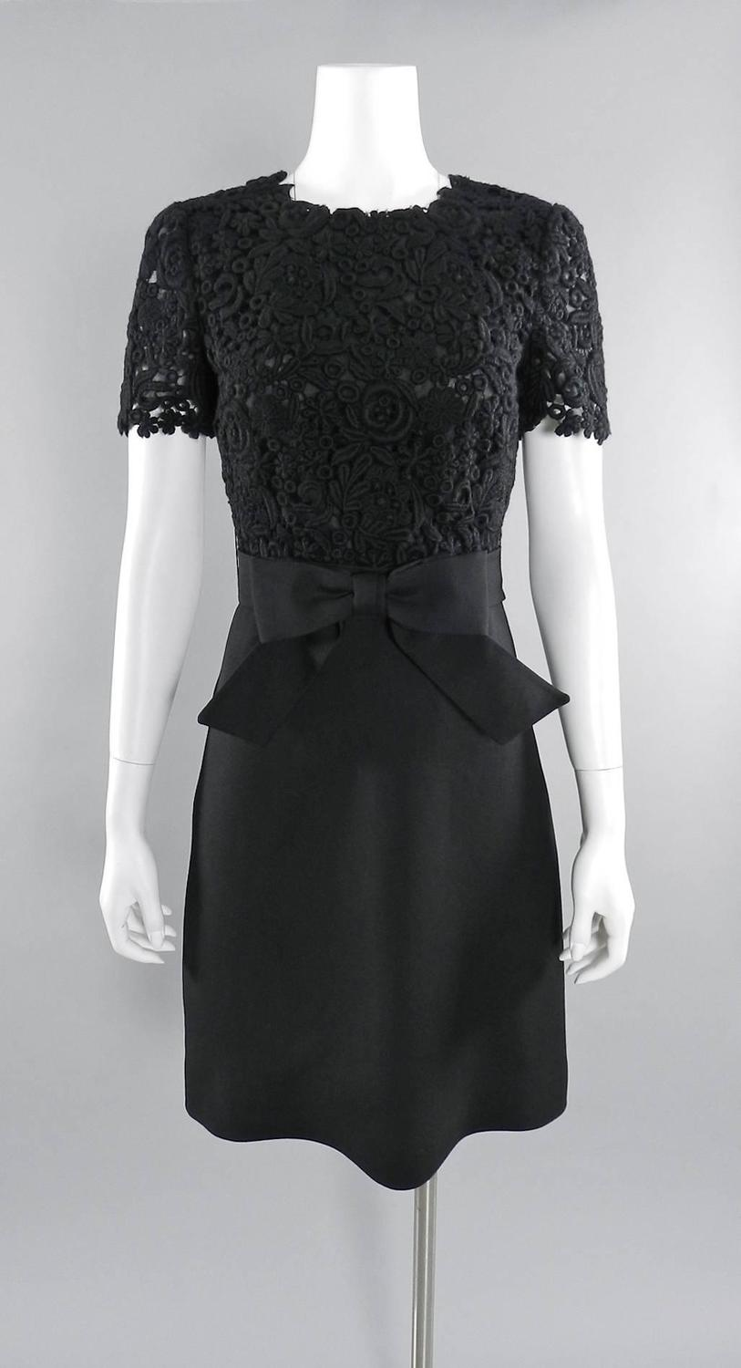 a1e7fbd4d06 Valentino black Lace top 1960s style Cocktail Dress For Sale at 1stdibs