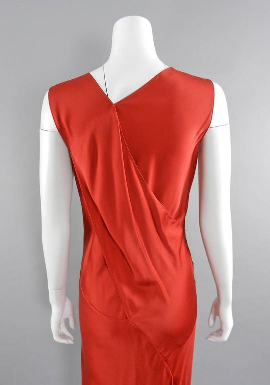 Cheap Sale Best Seller Red silk satin mini dress Maison Martin Margiela Outlet Cheap Price Real Cheap Sale Popular 100% Authentic Cheap Online d33shryD