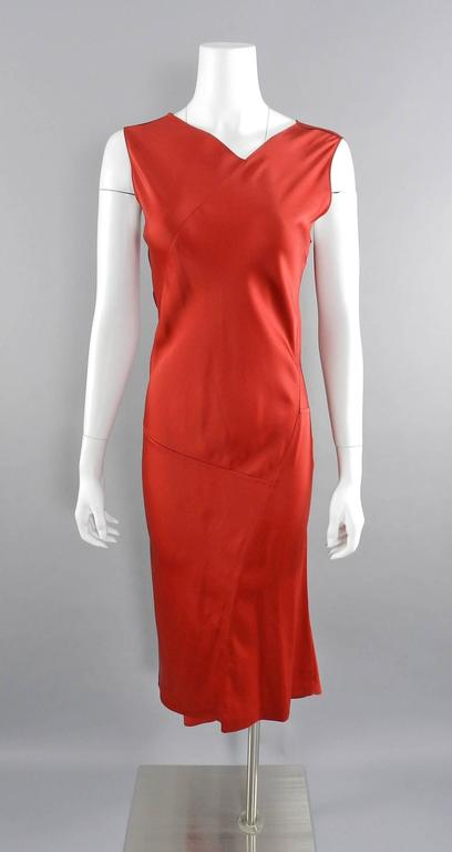 zipped jersey dress - Red Maison Martin Margiela Discount Best Pay With Visa For Sale Cheap Price For Sale SJkXpTZH