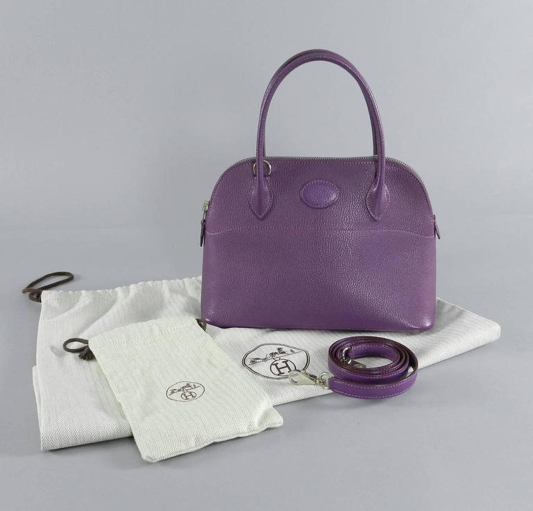 Hermes Violet Bolide 27 cm Bag - handbag with strap 2
