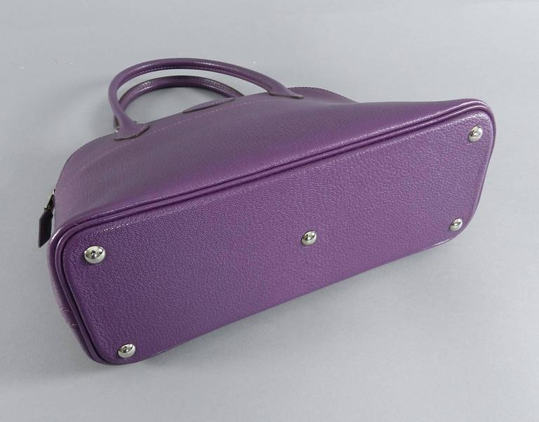 Hermes Violet Bolide 27 cm Bag - handbag with strap 5