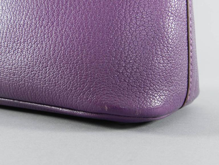 Hermes Violet Bolide 27 cm Bag - handbag with strap 6