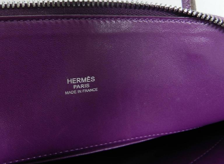Hermes Violet Bolide 27 cm Bag - handbag with strap 7