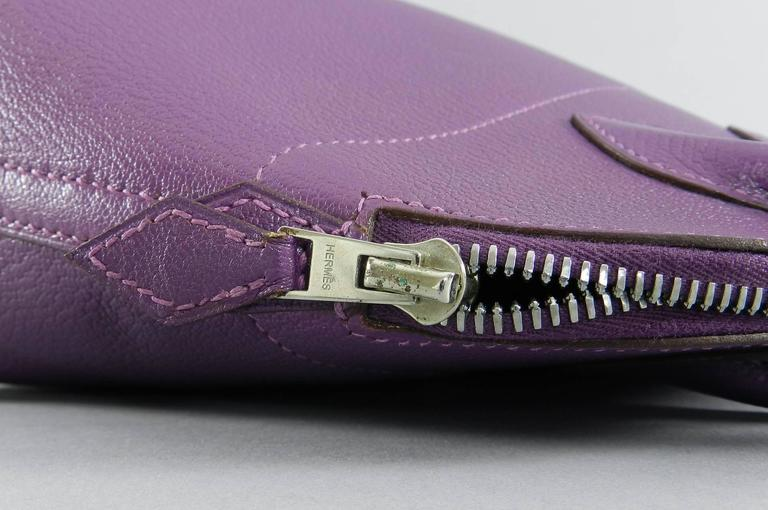 Hermes Violet Bolide 27 cm Bag - handbag with strap 9