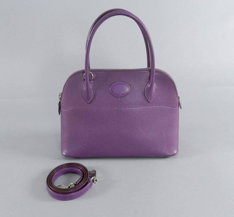 Hermes Violet Bolide 27 cm Bag - handbag with strap 10