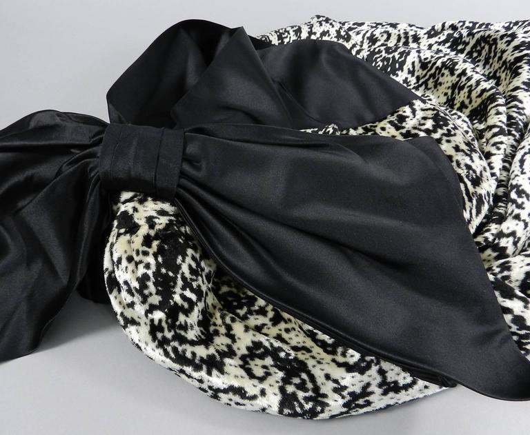 Lanvin 1980's Vintage Panne Velvet 1 Shoulder Gown 6