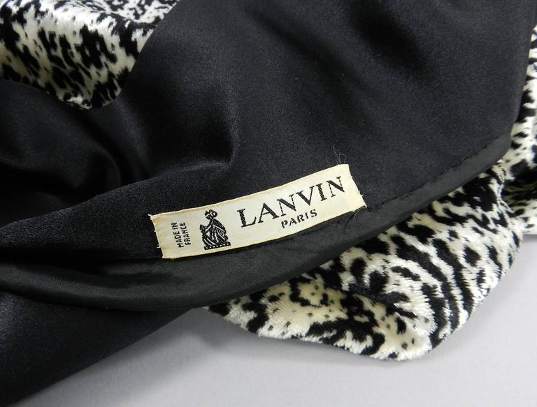 Lanvin 1980's Vintage Panne Velvet 1 Shoulder Gown 7