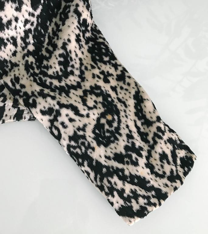 Lanvin 1980's Vintage Panne Velvet 1 Shoulder Gown 9