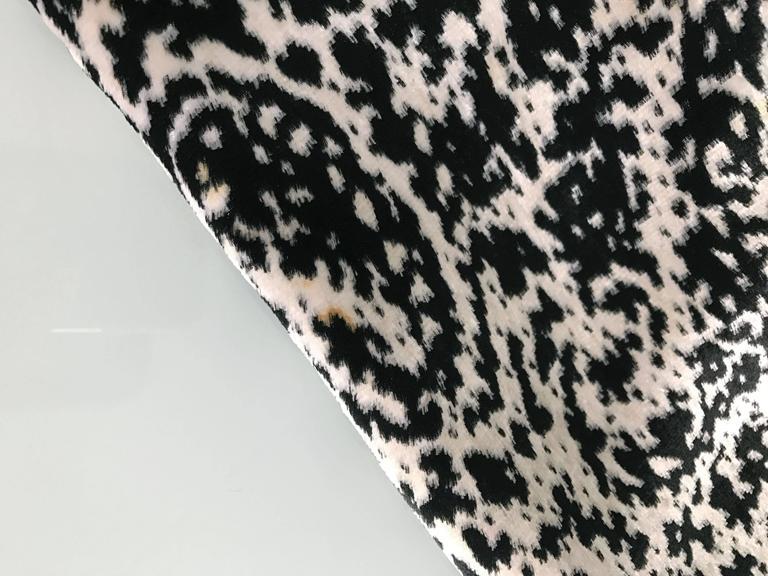 Lanvin 1980's Vintage Panne Velvet 1 Shoulder Gown 10