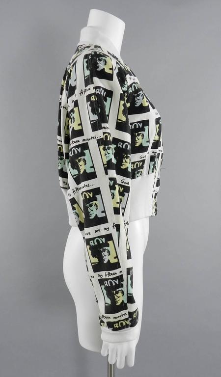 Vintage BOY London 1980's Andy Warhol Bomber Jacket 3