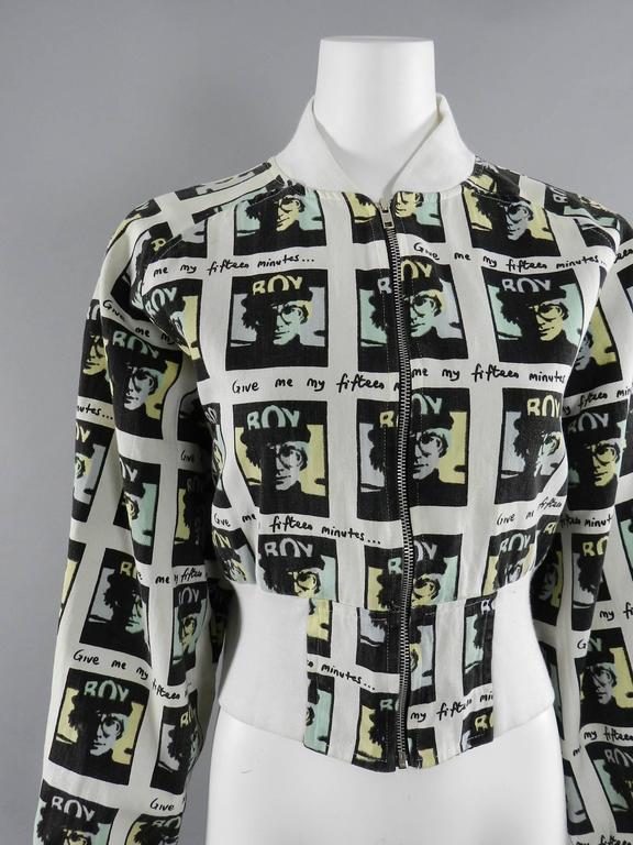 Vintage BOY London 1980's Andy Warhol Bomber Jacket 4