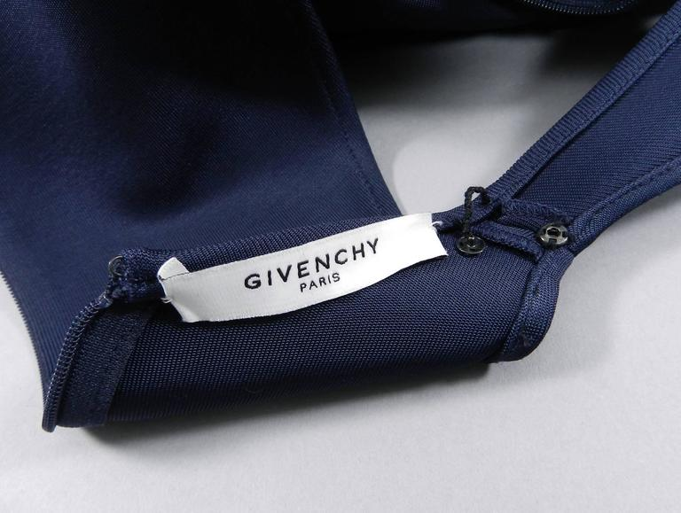 Givenchy Navy Stretch Dress with Ruffle Peplum 8