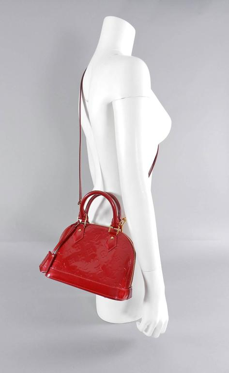 Louis Vuitton Alma BB in Cherry Red Vernis - mini size at 1stdibs d5a2433c85366