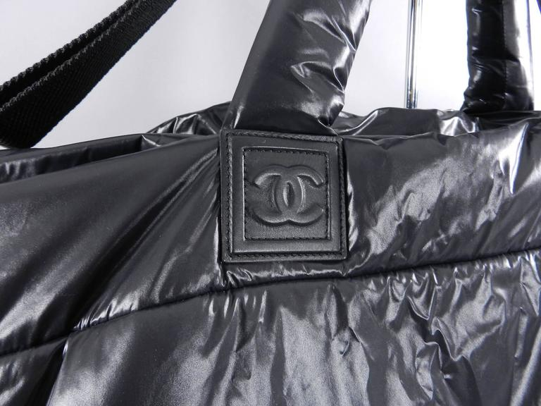 6b326e4e7411 Chanel Cocoon Nylon Quilted Oversized Travel Weekend Bag at 1stdibs