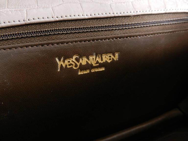 Ysl Yves Saint Laurent Vintage Haute Couture Crocodile