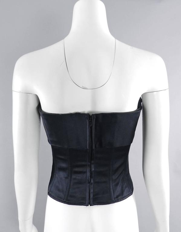 Chanel Vintage 1995 Fall Silk Satin Strapless Corset Bustier 6