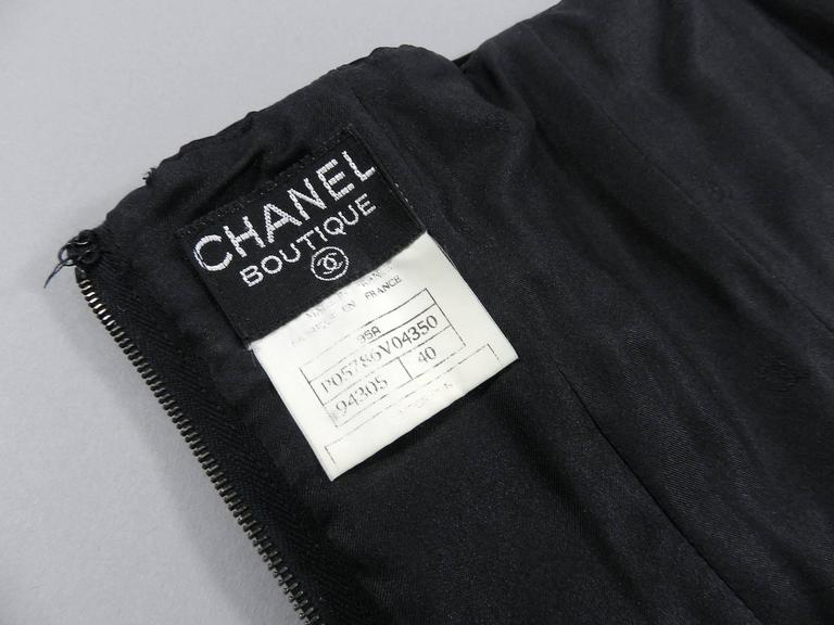 Chanel Vintage 1995 Fall Silk Satin Strapless Corset Bustier 7