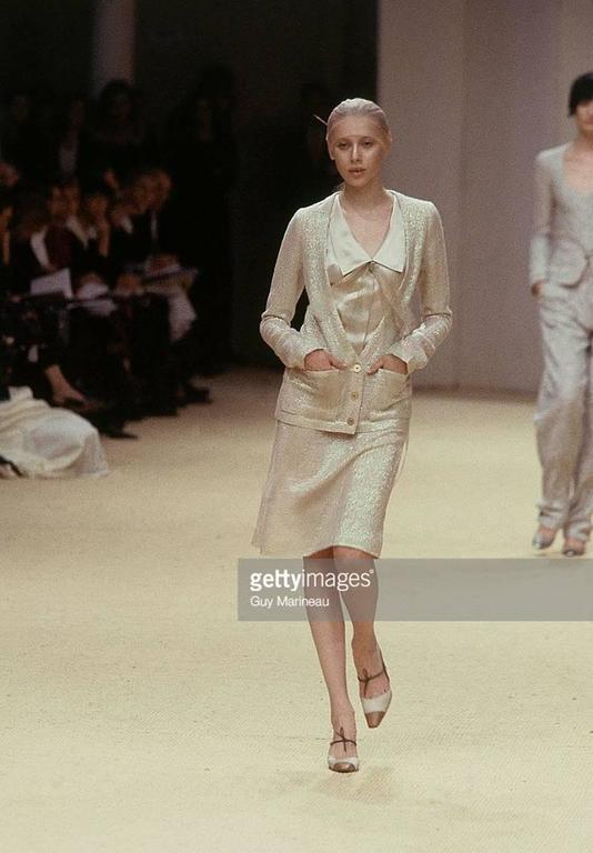 Chanel Spring 1999 Haute Couture Runway Shimmer Suit 2