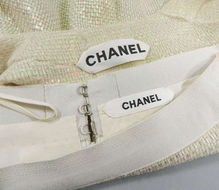 Chanel Spring 1999 Haute Couture Runway Shimmer Suit 4