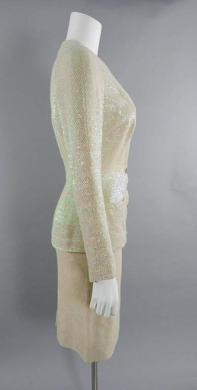 Chanel Spring 1999 Haute Couture Runway Shimmer Suit 5