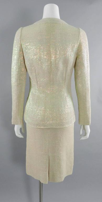 Chanel Spring 1999 Haute Couture Runway Shimmer Suit 6