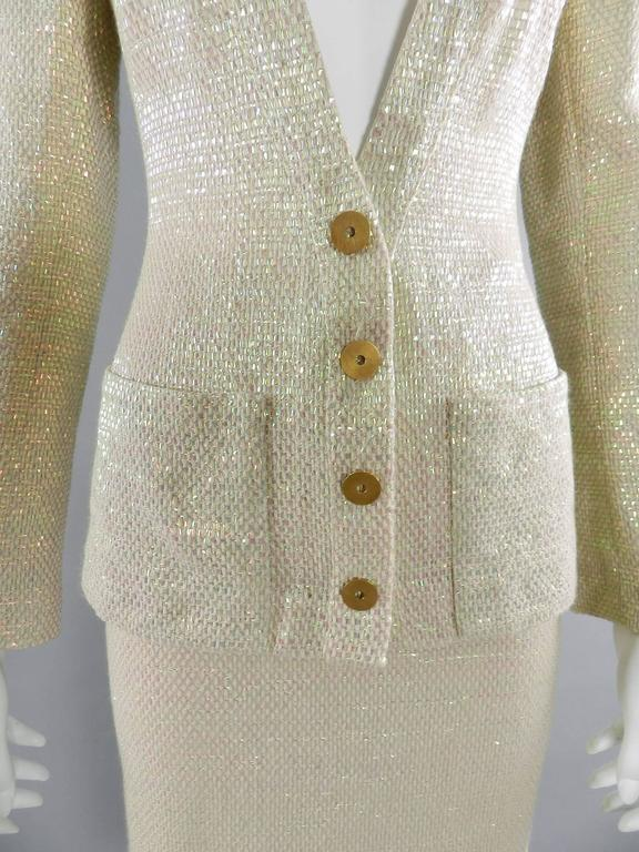 Chanel Spring 1999 Haute Couture Runway Shimmer Suit 8