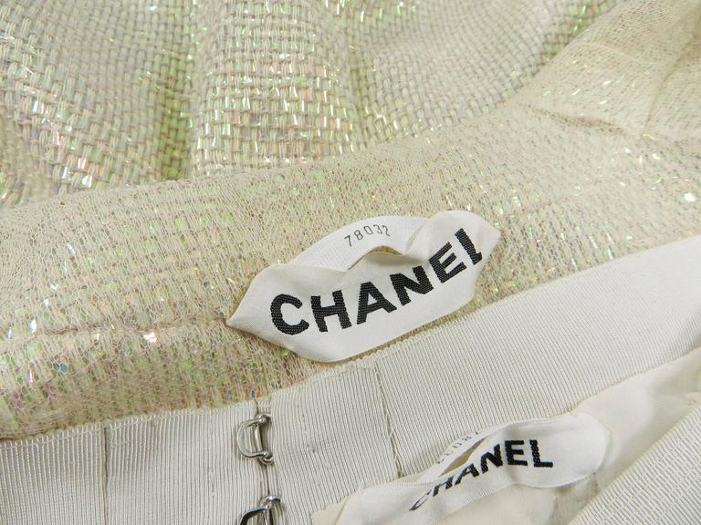 Chanel Spring 1999 Haute Couture Runway Shimmer Suit 10