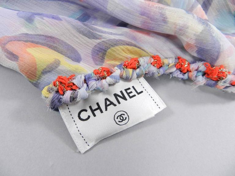 Chanel 2011 Resort Sheer CC logo Pastel Chiffon Dress 8