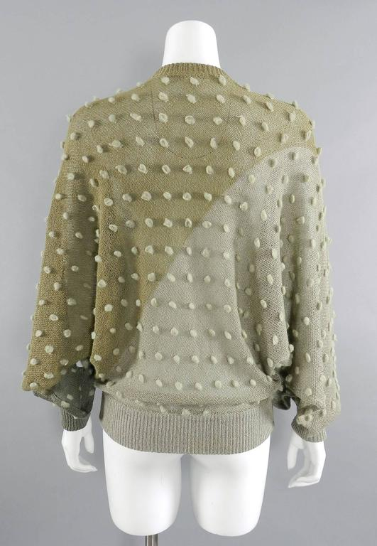 Gray Issey Miyake 1980s Taupe Batwing Sleeve Sweater For Sale