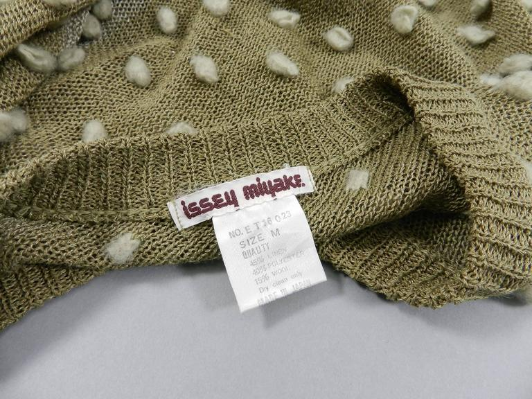 Issey Miyake 1980s Taupe Batwing Sleeve Sweater 4