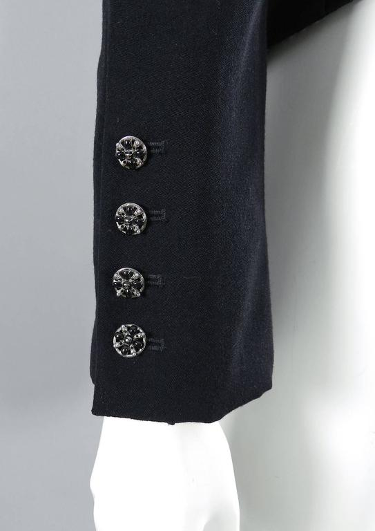 Chanel 06A black Crop Quilted Jacket with Velvet Collar 4