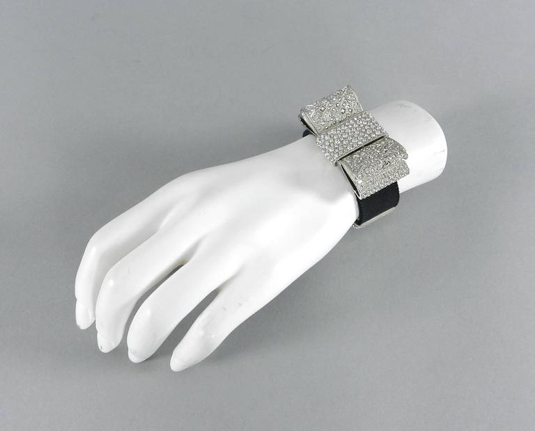 Chanel 13B Rhinestone Jewelled Bow Bracelet  3