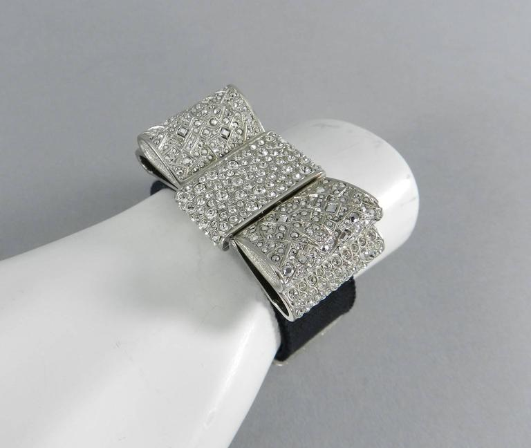 Chanel 13B Rhinestone Jewelled Bow Bracelet  4