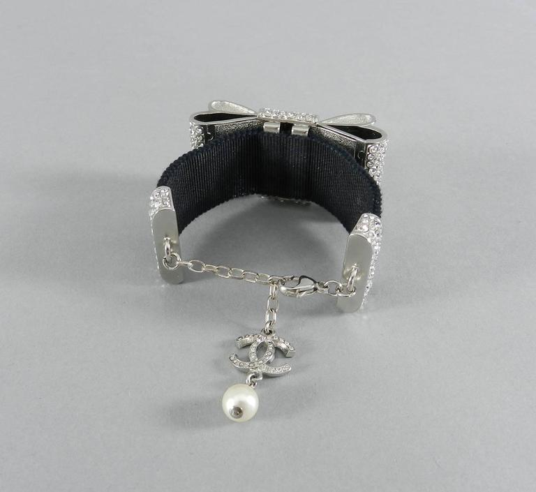 Chanel 13B Rhinestone Jewelled Bow Bracelet  6